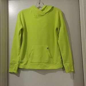 JUSTICE hoodie very soft neon yellow size 12